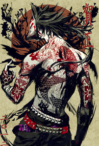 [Name] Takao Sesshoumaru [Nickname/Title] The serigala, wolf [Faction] Yakuza- Leader [Age] 32 [Gen