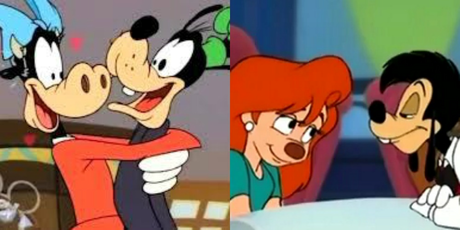 Goofy and Clarabelle or Max and Roxanne