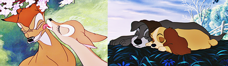 Belle & The Beast :3 Bambi & Faline 或者 The Tramp & Lady?