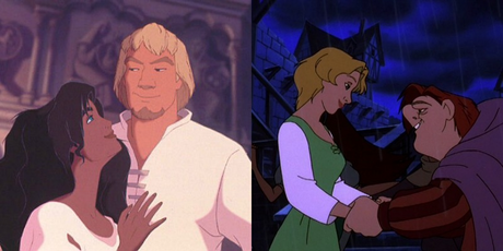 Aladdin and Jasmine, but I pag-ibig Herc and Meg too Esmeralda and Phoebus or Quasimodo and Madellaine