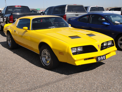Here's another picture. This time, a yellow Pontiac Firebird.