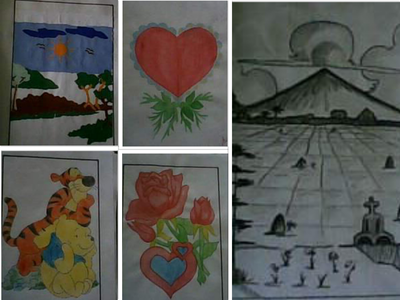 Here is mine: My Drawings when I was in 1st বছর College