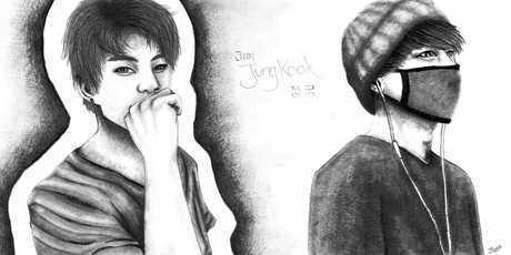 Finally finished my drawings of Jungkook!! Click on this link for the full size~ Hope আপনি like! It
