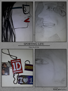 mine~ some drawings and the 1D keychains made দ্বারা me *__*