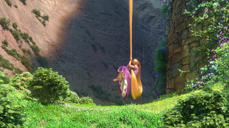 The one I'm currently using is anime-related, but I use this Tangled screencap as wallpaper  from tim