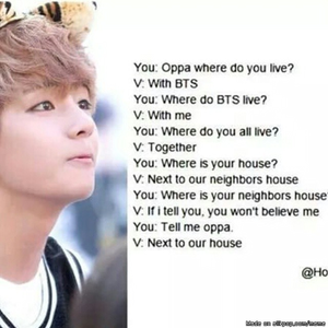 This is exactly how I can imagine Taehyung being... XD