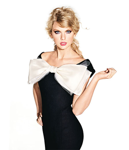 Taylor with a bow.:}