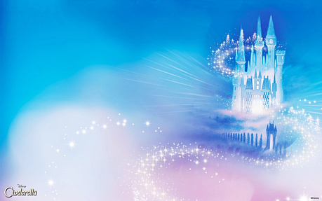 Here's a background of Cinderella's castle!