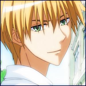 Usui Takumi from Kaichou wa Maid-sama This عملی حکمت character has gray/white hair, heterochromia eyes