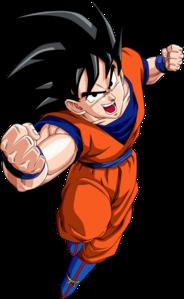 Goku from Dragon Ball Z.