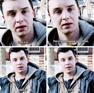 [b]Day 7: A scene that made you sad/cry [i]The Gallavich breakup (5x12)[/i][/b] Also: - Micke