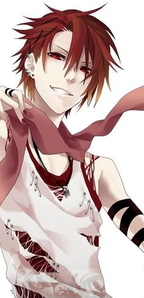 Name: Seiji Kimura Age: 18 Sex: Male Species: Human Hair: Scarlet Eyes: Crimson Height: 5'9�