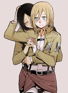 I don't know them so i can't say :X Ymir & Hitoria [Christa] from Attack on Titan. Ship it یا not?