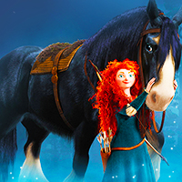 6. with Sidekick: Merida