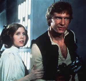 Princess Leia and Han Solo ( star, sterne Wars)