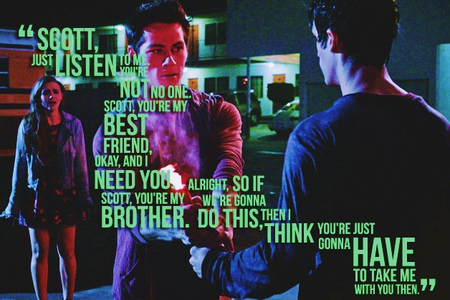 "- favori dramatic scene 3x06 ""Motel California"" - [i] Stiles saves Scott[/i] 3x11 ""Alpha Pact"