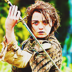 4. inayopendelewa child au teen character [b] Arya Stark [/b]( Game of Thrones )