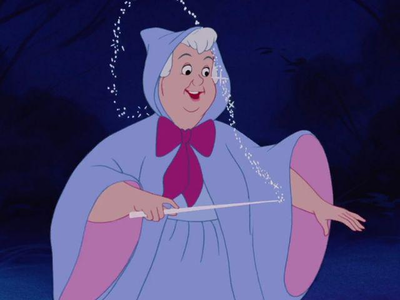 The Fairy Godmother (Cinderella) Post an animated character that has a pet