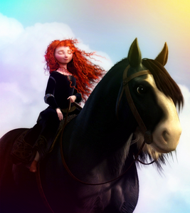 Merida from Rebelle Post a character with crazy hair color