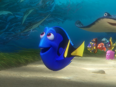 Dory from Finding Nemo Post an animated character who is a talking horse