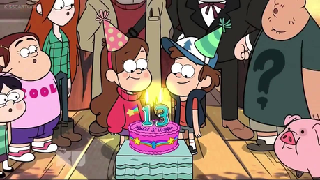 Dipper and Mabel from Gravity Falls Post an animated character with different colored hair (like p