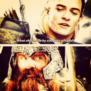 día 11 - favorito! friendship? Legolas and Gimli