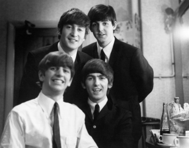 I really like this picture, because they all look so happy. John and Paul in this picture remind me o