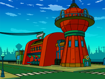 [b]17. favorit place (a restaurant, club, etc) [/b] I cinta the Planet Express building. It feels th