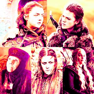 [u][b]Top 5 female characters:[/b][/u] 1. Arya 2. Ygritte 3. Olenna 4. Yara 5. Daenerys