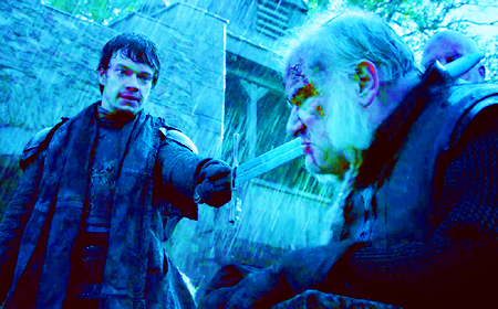 [b]Favorite dramatic scene?[/b] Theon trying his damn best to behead Ser Rodrik.