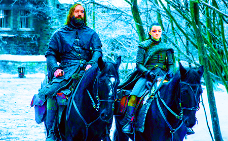 [b]Favorite friendship?[/b] Arya & The Hound