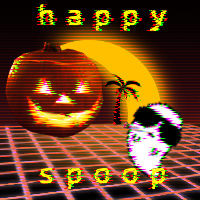 vaporwave halloween bc halloween is my bday nd i am vapiorwave i ts art mom grafic desgin is my pass