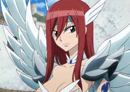 The reason why I relate so much to Erza Scarlet is because her offensive/defensive personality mechan