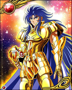Gemini Saga(Saint Seiya) Unlike him I don't have a membagi, split personality disorder and I'm most certainly