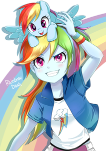 arc en ciel Dash from My Little Pony: Friendship is Magic / Equestria Girls. One plus Character that r