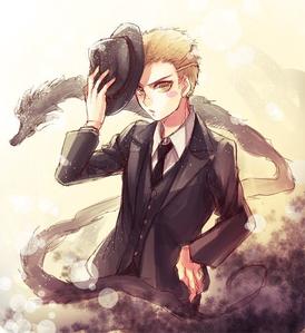 Blindy really reminds me of Fuyuhiko Kuzuryu from Danganronpa. - Seemingly Cold and Indifferent at
