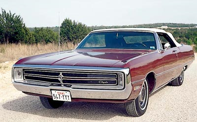 Well since we're on the subject of cars, let's take a look at a classic 300. When Chrysler was 100% A