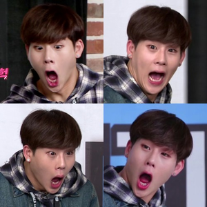 1st place : dani 2nd place Sarah and Mira 4th round: A funny pic/gif of Jooheon~open now