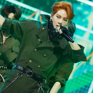 12 round open Post a pic or gif of a monsta x member Performing on stage to shoot out