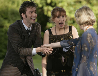 Almost forgot. Here's another foto from The Unicorn And The Wasp. (Donna Noble meets her idol Agatha