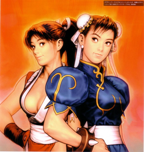 Chun-li (Street Fighter) and Mai Shiranui (KOF)