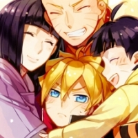 Hope a family pic is okay Hinata, Naruto, Boruto and Himawari from Boruto (mother is obviously Hin