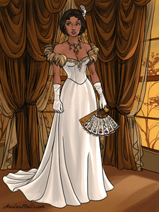 #2nd entry: Elegant in White (Tiana)