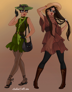 #3rd entry Princess: Tiana and Pocahontas Theme: Fall Fashion Trends Title: Fashion of the