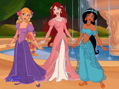 #3rd entry: Princess Day's Out (Rapunzel, Ariel, and Jasmine)