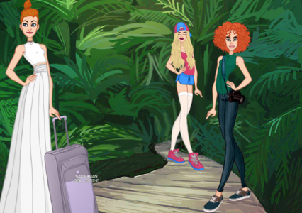 Entry 2: Travelling alone - Need our help? Cinderella goes on holiday/vacation to a rainforest atau