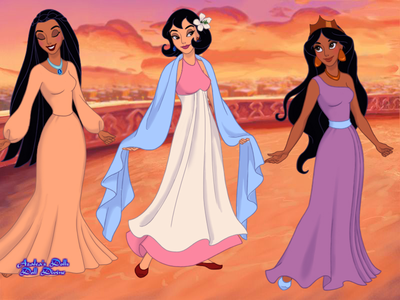 Entry 1: Bachelorette Party. (Jasmine, Pocahontas, and Mulan.)