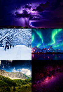 [b]Day 11: Things of Nature [/b] 1. Thunderstorms! 2. Snow 3. Aurora borealis 4. Mountains 5. Sp