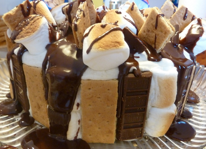 Well I'm really interested in this s'mores cake right now!