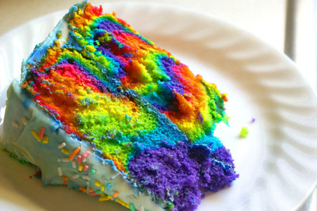 Love the colors in this cake! 🌈